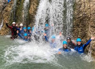Canyoning, Kanu & Drachenboot. Das Trainingslager der Turnerinnen des Dresdener SC mit Robby Lan