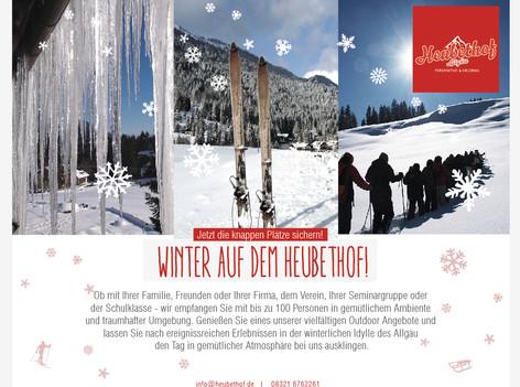 Winter-und Skifreizeiten auf dem Heubethof, DAS Hütthotel und DIE Gruppenunterkunft