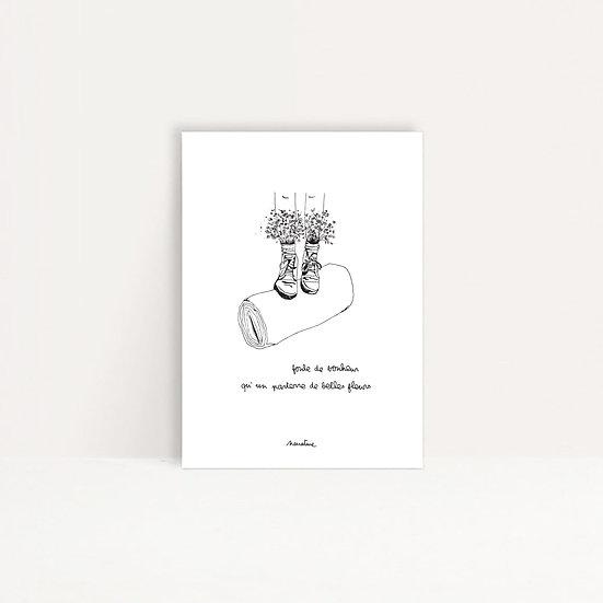"""Carte """" Foule de bonheur """""""