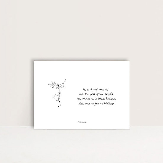 "Carte "" rayon de bonheur """