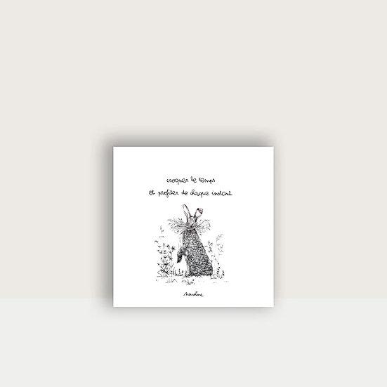 """Carte """"Basile le lapinou """""""