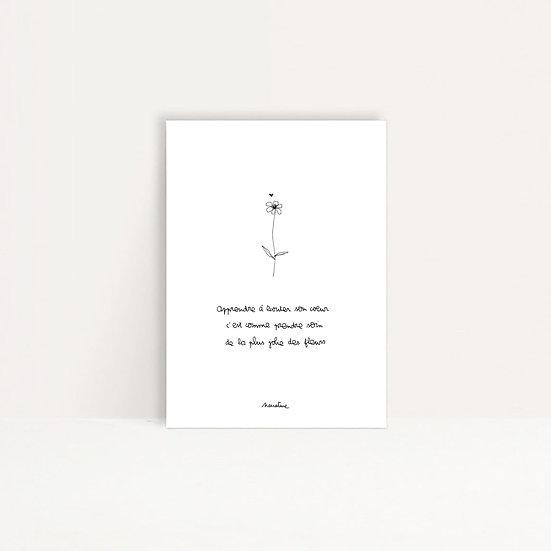 """Carte """"Ecouter son coeur """""""