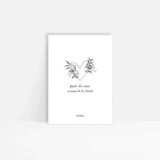 """Carte """" Floraison du coeur """""""