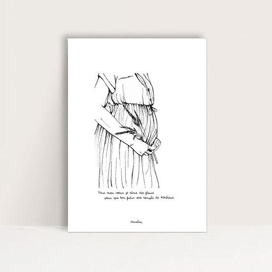 """Mini-Affiche """" Bébé fleur """""""