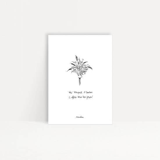 """Carte """" The bouquet d'amour """""""