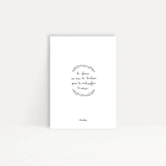 """Carte """" glissement de bonheur """""""