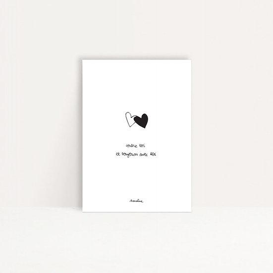 "Carte "" Câlins de coeur """