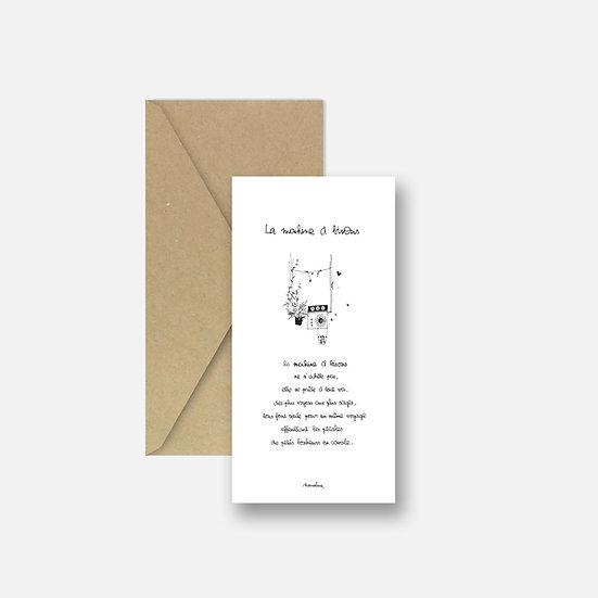 """Carte """" la machine à bisous """""""