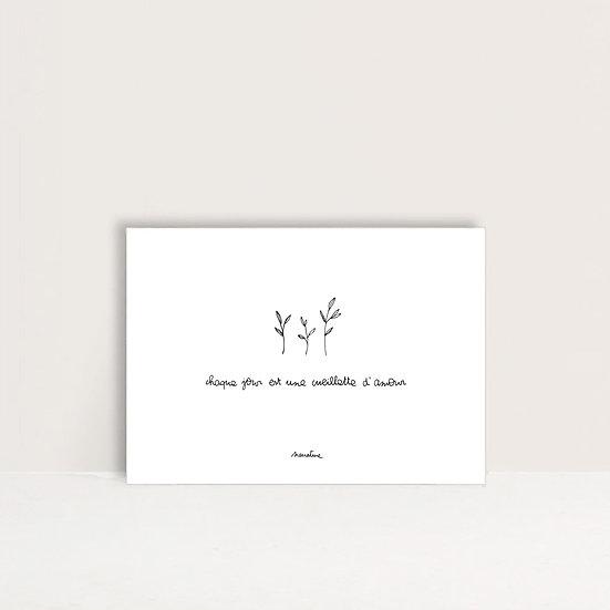 """Carte """" cueillette d'amour """""""