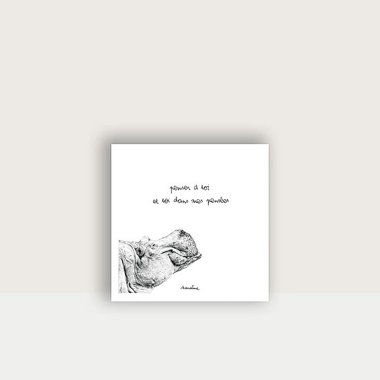 "Carte "" Paulo l'hippopotame """