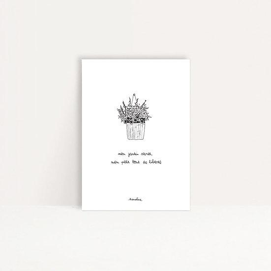 """Carte """" Mon jardin secret """""""