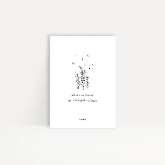 """Carte """" mélodies du bonheur"""""""