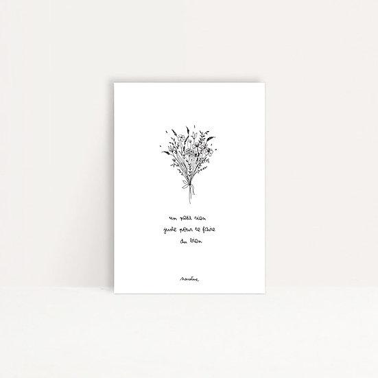 """Carte """" un petit rien """""""