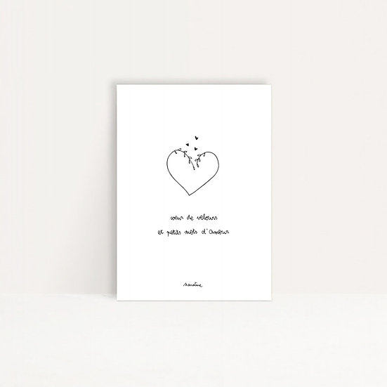 "Carte "" Coeur de velours """