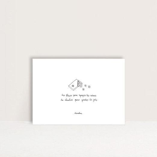 """Carte """" Fleurs et chocolat """""""