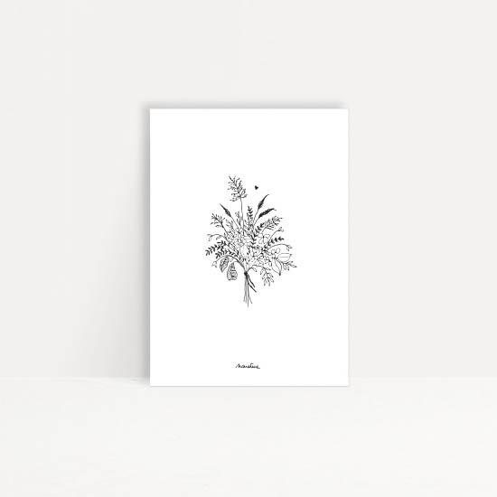 """Carte """" Joyeux bouquet """""""