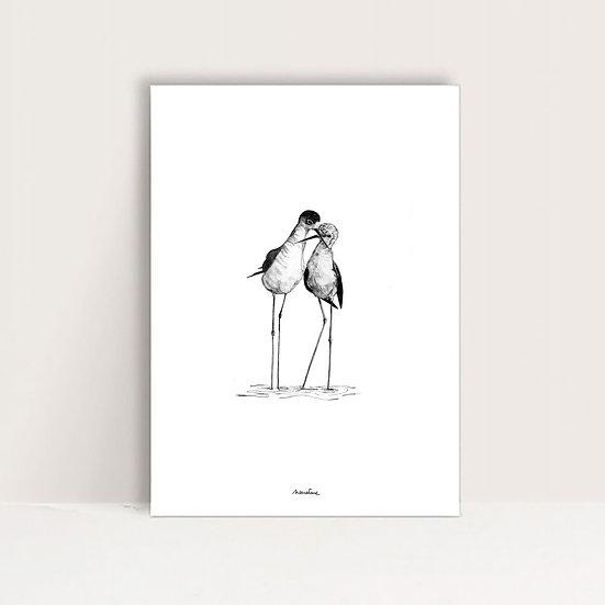 """Mini-Affiche """" Les amoureux """""""