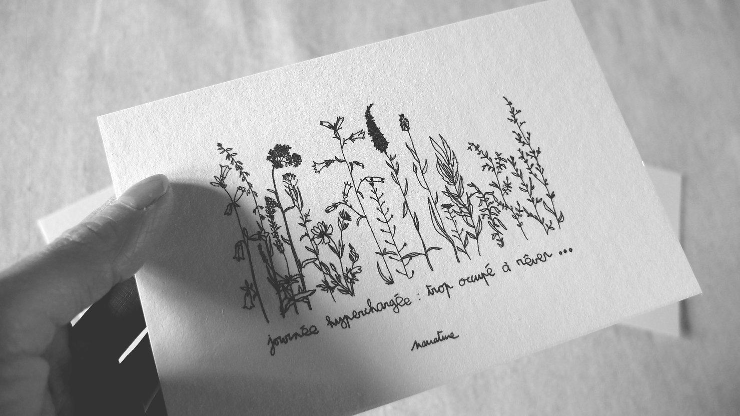 carterie poétique Narrature cartes à message papier fait à la main citation