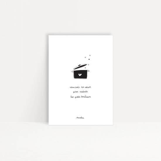 """Carte """" Cuisine du bonheur """""""