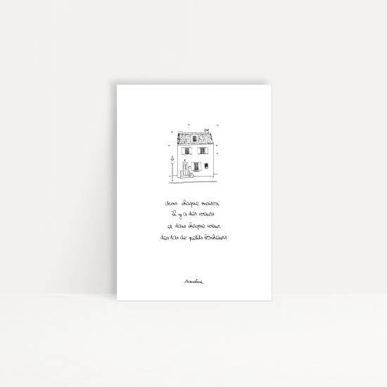 """Carte """" Maison des coeurs """""""