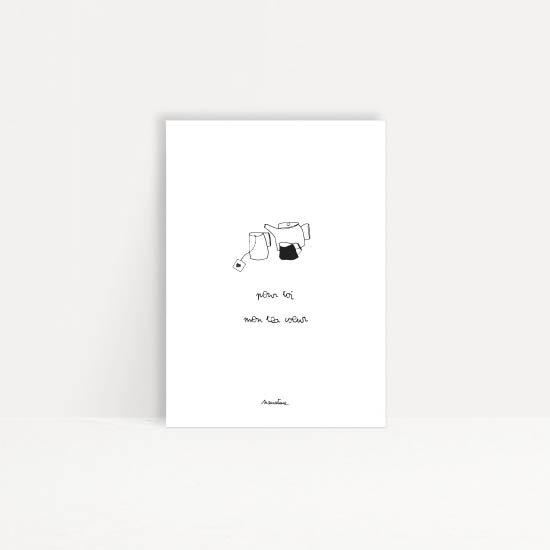 """Carte """" Tea coeur """""""