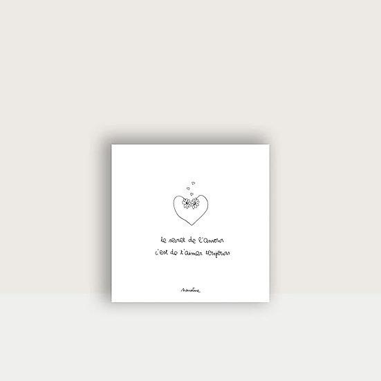 """Carte """" Secret de l'amour """""""