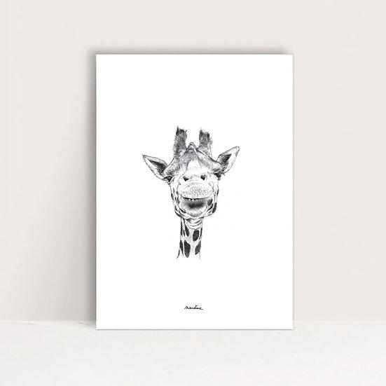 "Affiche "" Ingrid la girafe """