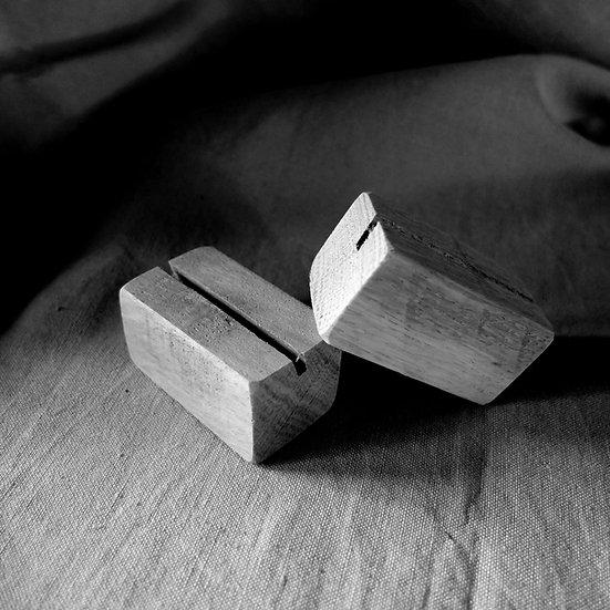 Collaboration | Supports de cartes bois
