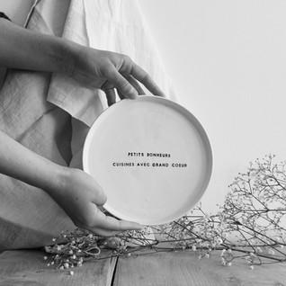 """Assiette """" cuisine du bonheur"""""""