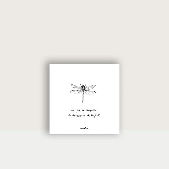 "Carte "" Lili la libellule """