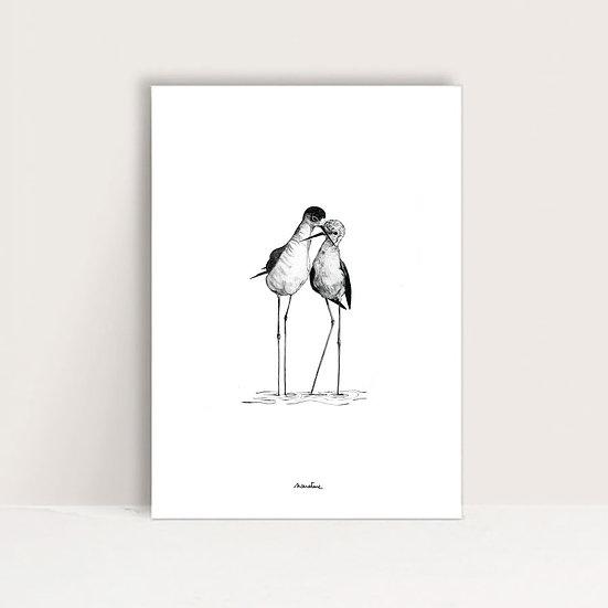 """Affiche """" Les amoureux """""""