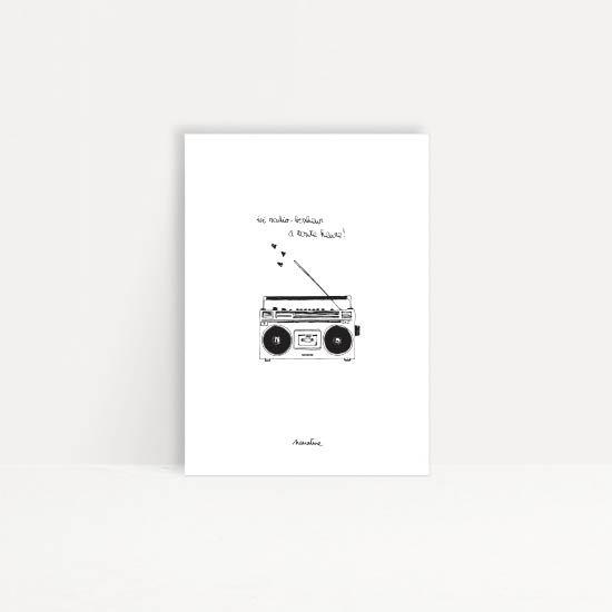 "Carte "" Radio bonheur """