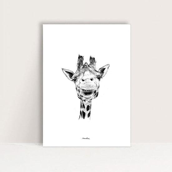 """Mini-Affiche """" Ingrid la girafe """""""