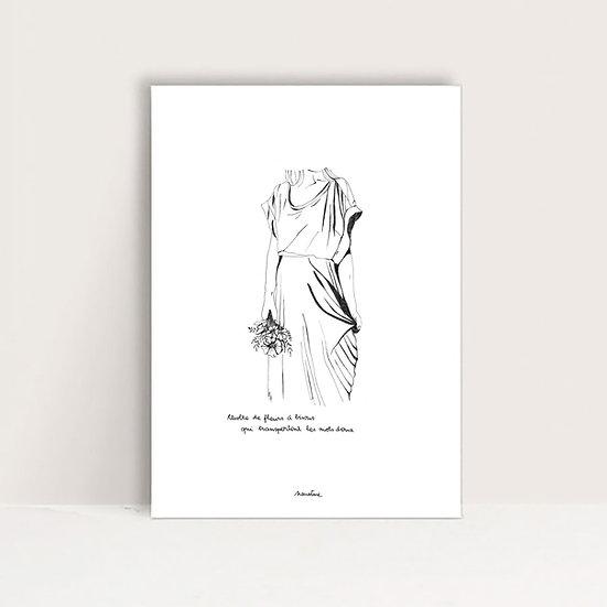 """Mini-Affiche """" Fleurs à bisous """""""