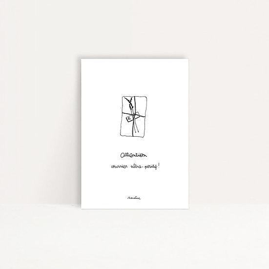 """Carte """" Courrier ultrapositif """""""