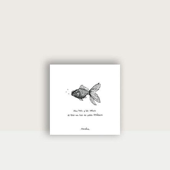"Carte "" Poppy le poisson """