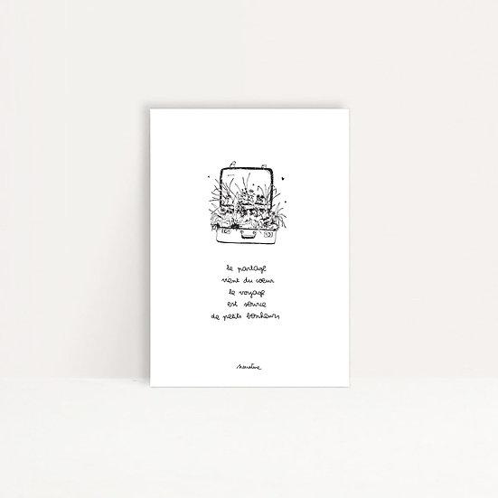 """Carte """" Le voyage du partage """""""