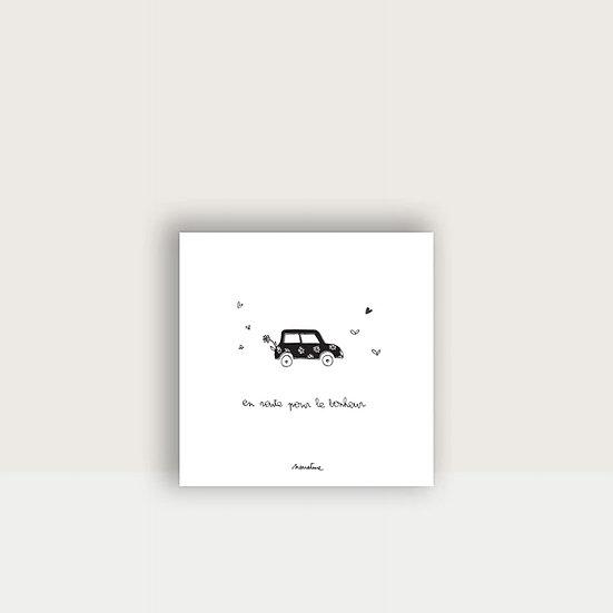 """Carte """" Route du bonheur """""""