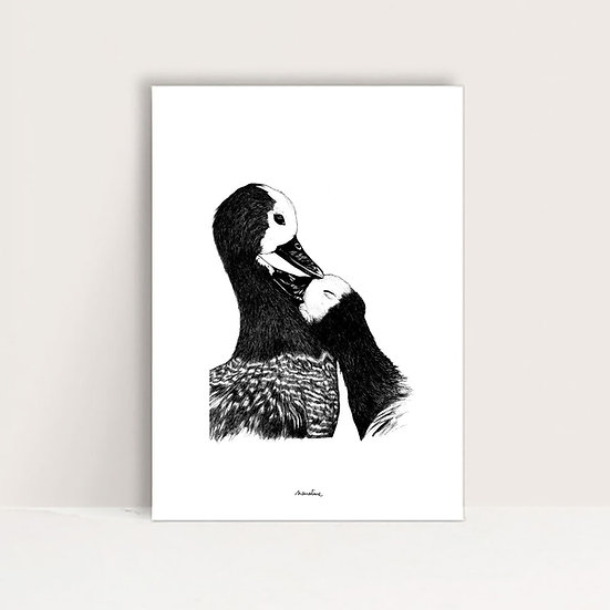 """Mini-Affiche """" Gine et Ginette """""""