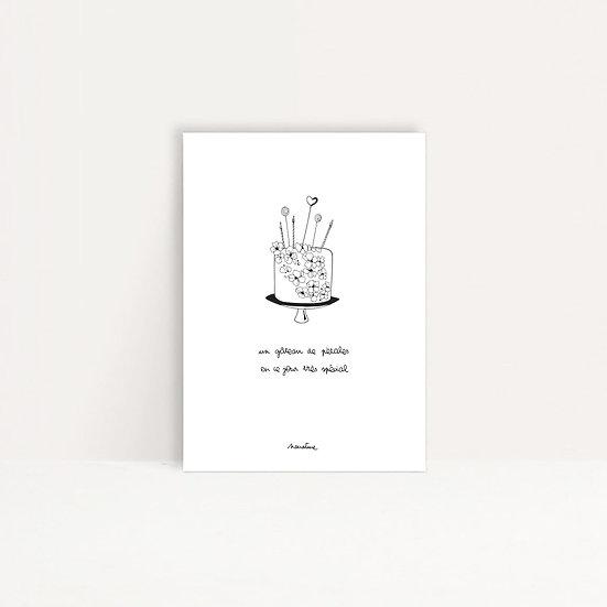 """Carte """" Gâteau de pétales """""""