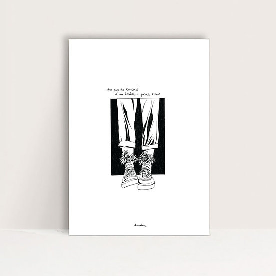 """Mini-Affiche """" Bonheur grand écart """""""