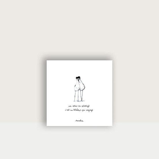 """Carte """" Les Amoureux n°2 """""""