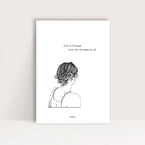 """Mini-Affiche"""" L'art du ciel """""""