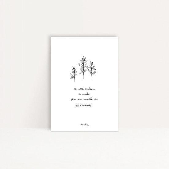 """Carte """" Nouvelle vie """""""