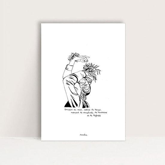 """Mini-Affiche """" Douceur du vent """""""