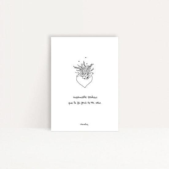 "Carte "" Inestimable bonheur """