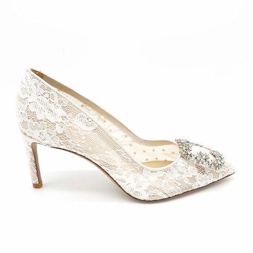 75mm Amma 蕾絲高跟鞋