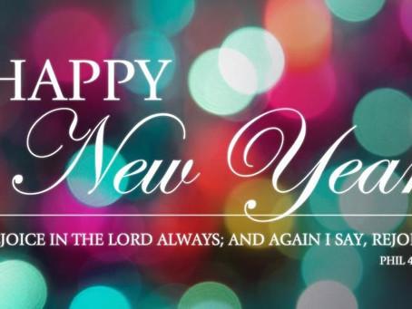 Pastor's Pondering - January 1, 2021