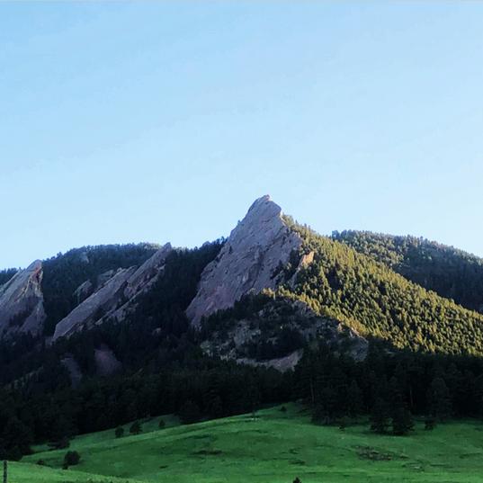 Boulder's iconic sandstone cliffs, the Flatirons