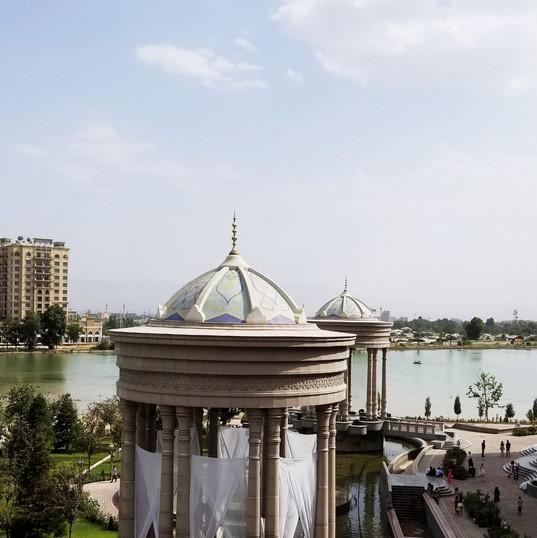 Central Dushanbe across the Dushanbinka